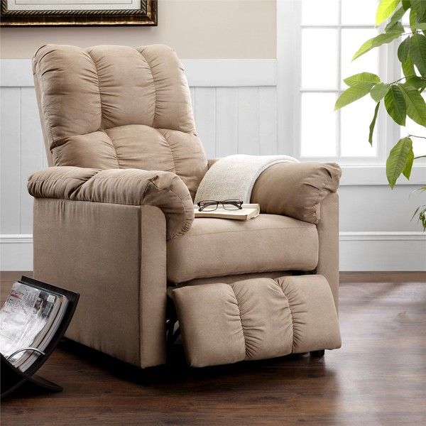 Dorel Living Slim Beige Recliner | For the Home i love diy projects ...