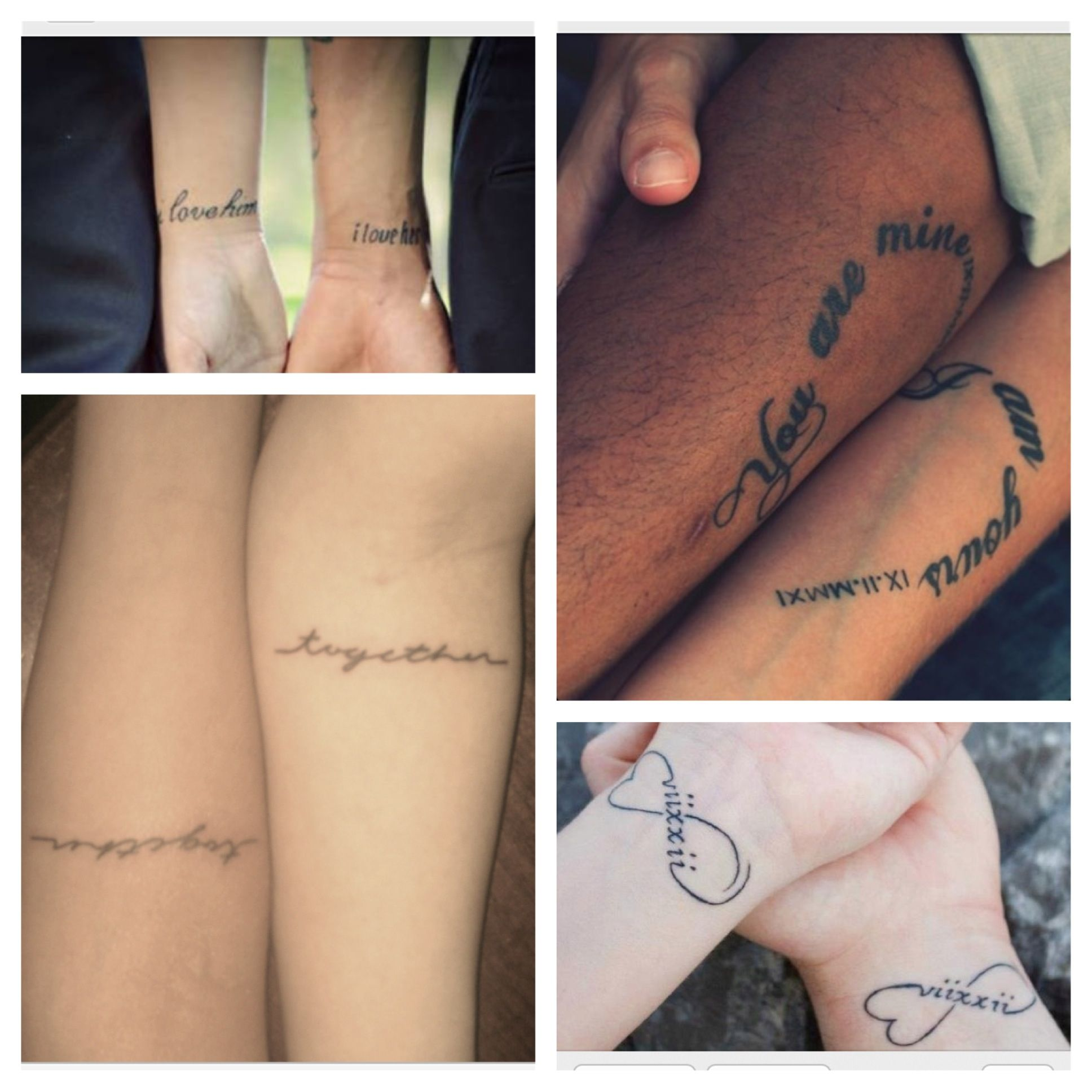 Love Tattoos For Couples Quotes Matching Couples Tattoos  Tattoo  Pinterest  Matching Couples