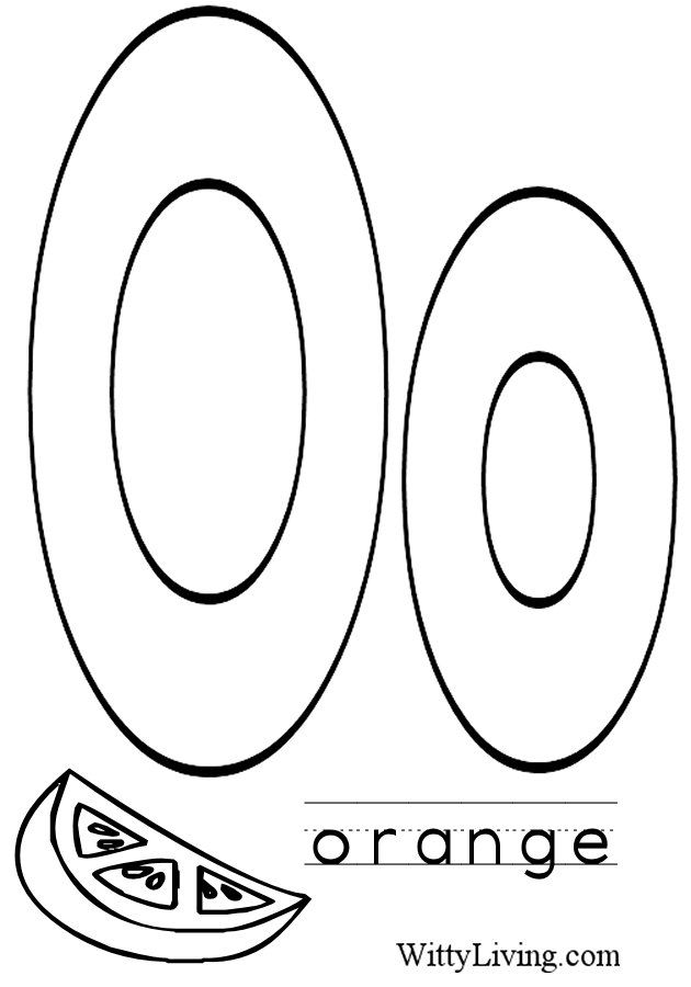 Coloring Pages Letter O  Kids Crafts For Kids To Make  Kids