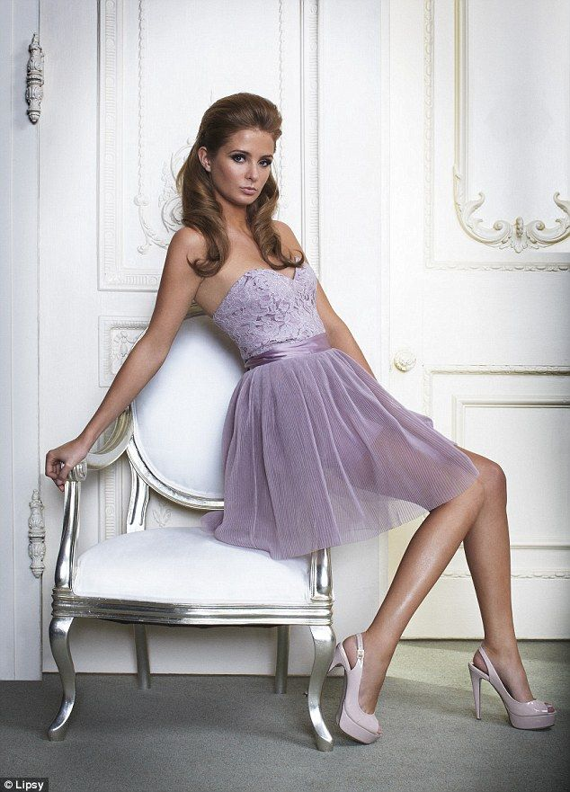 lounging around in lovely shades of lilac- lace and ribbon and netting-  millie definitely rocks this frock! 5ca8e0f5b