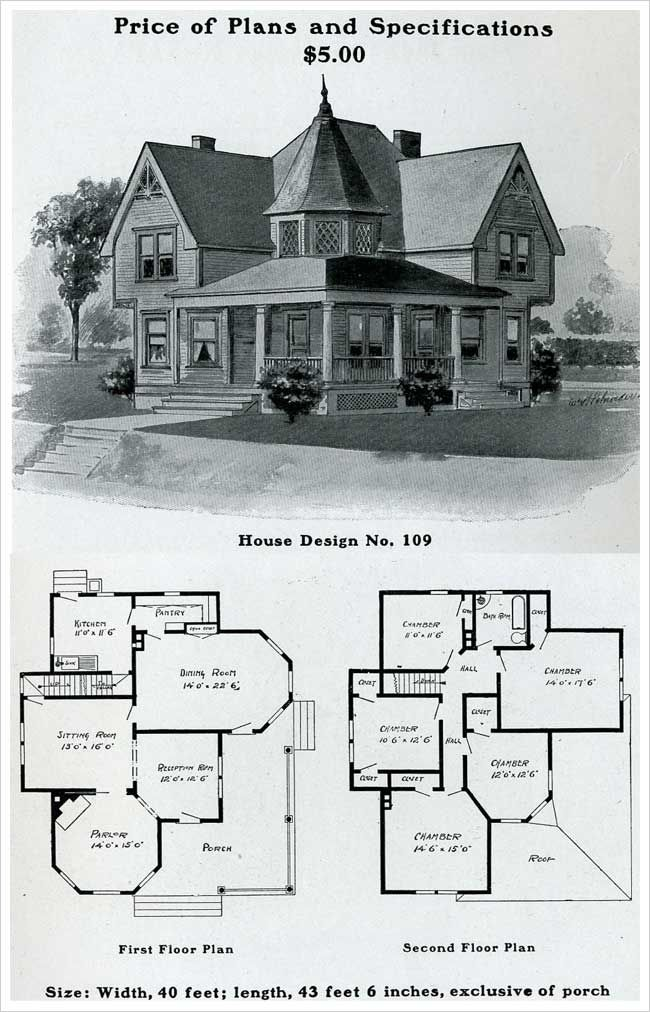 1903 Free Classic Queen Anne William Radford House Blueprints Victorian House Plans Queen Anne House