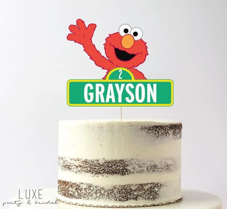 Elmo sesame street cake topper for birthday party smash