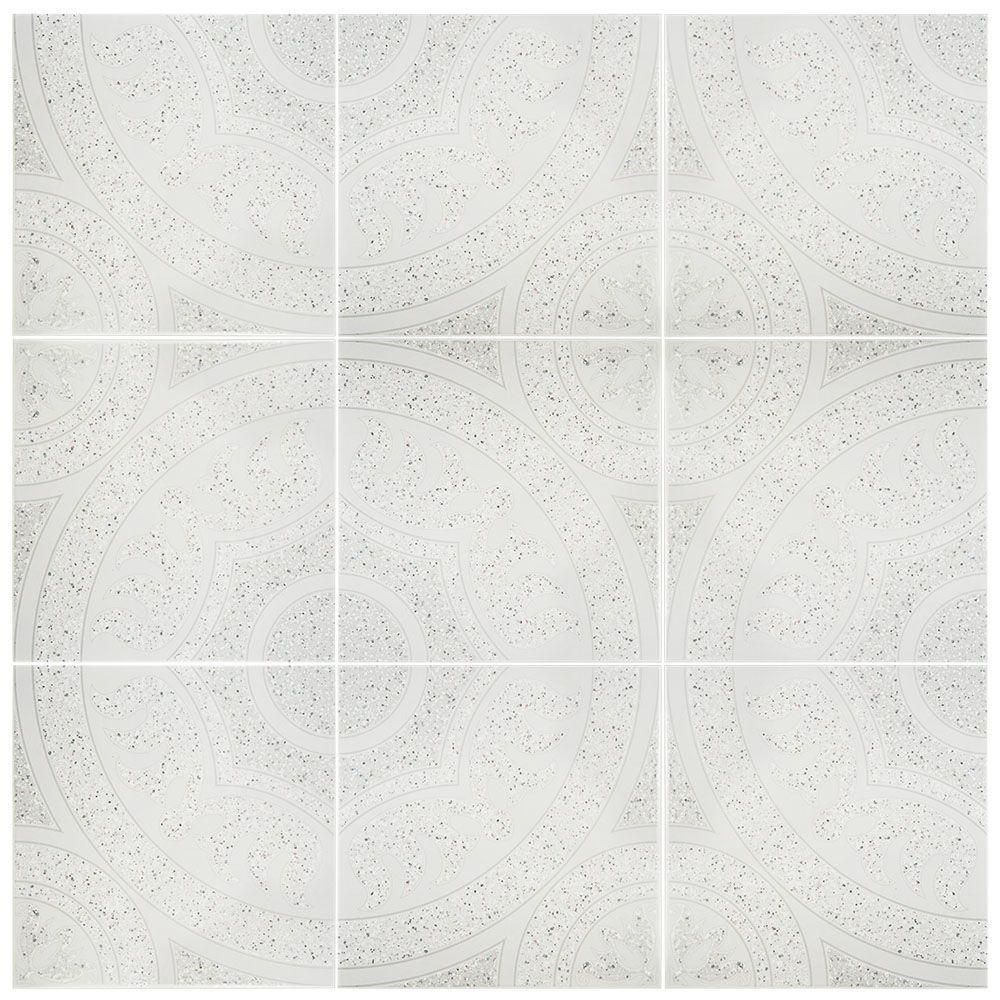 Merola tile agadir gris 12 12 in x 12 12 in ceramic floor and merola tile agadir gris 12 12 in x 12 12 in ceramic floor and wall tile 1076 sq ft case white and greyhigh sheen dailygadgetfo Choice Image