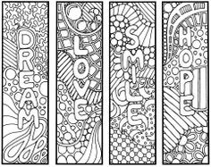 """Instant PDF Download Coloring Page Hand Drawn Zentangle Inspired """"Thoughts""""…"""