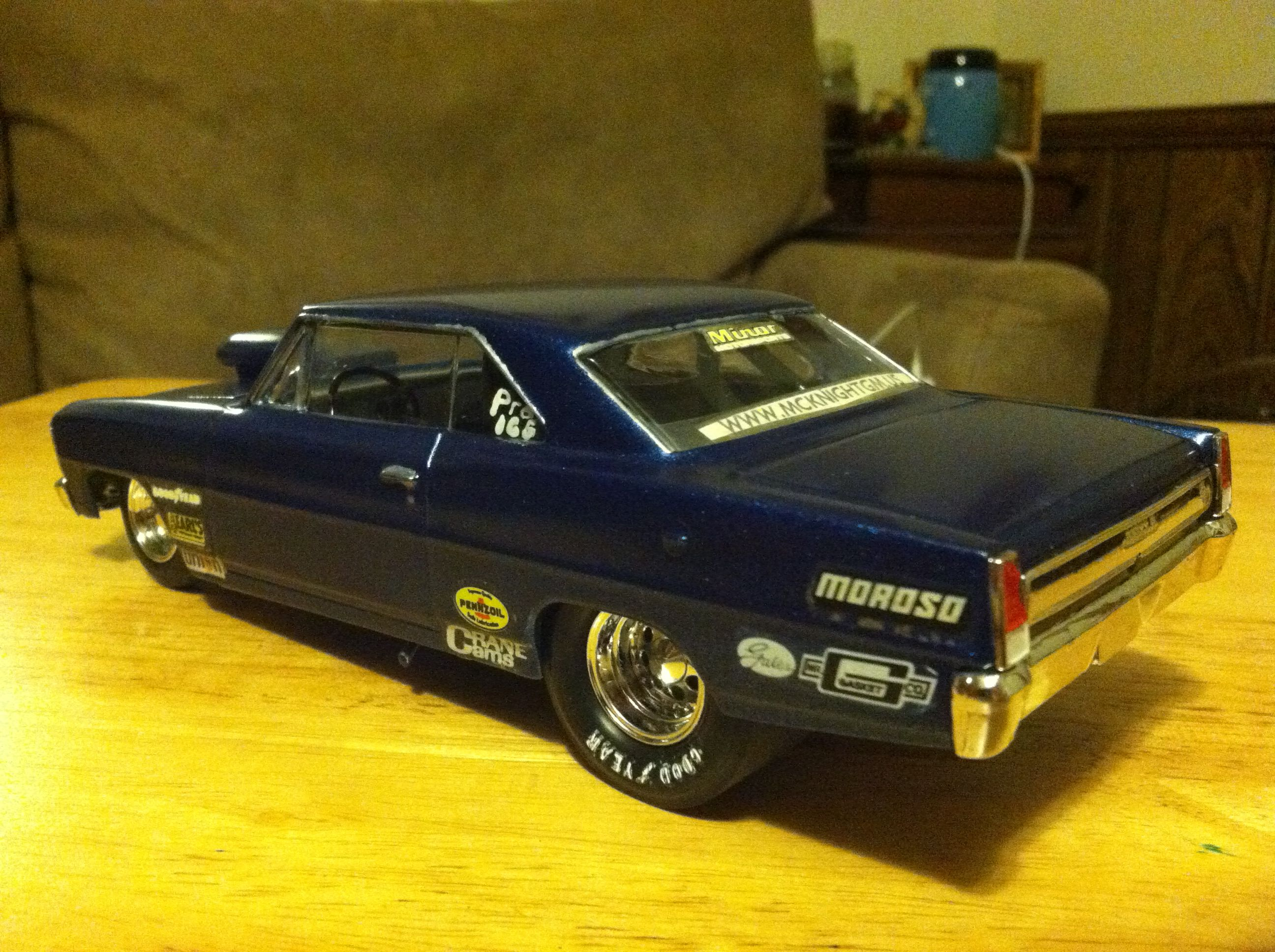 A rear shot of the 66 Nova. I used to hate this body style; now I ...