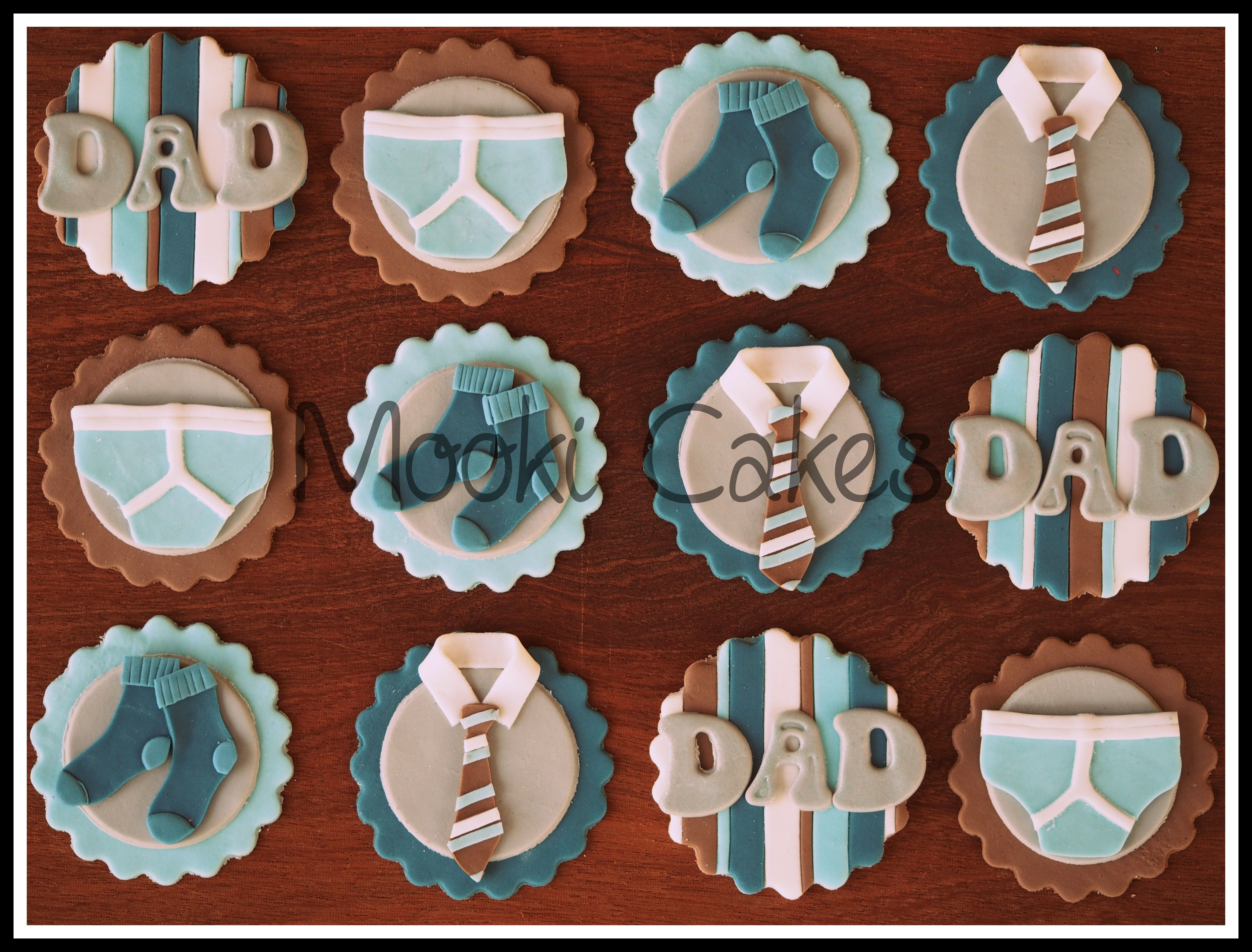 father 39 s day cupcake toppers socks jocks and ties. Black Bedroom Furniture Sets. Home Design Ideas