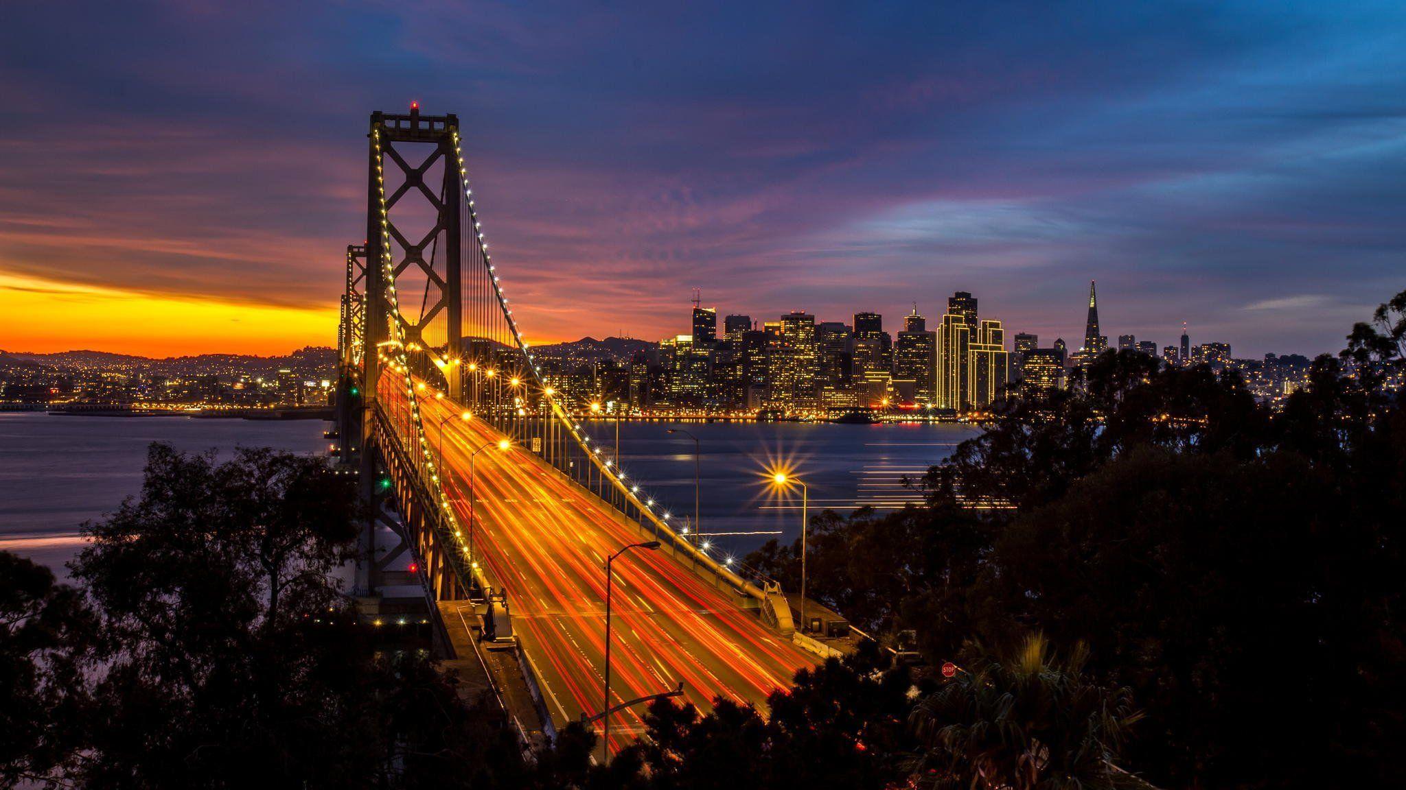 Golden Gate Bridge Night Wallpapers 1080p Golden Gate Bridge
