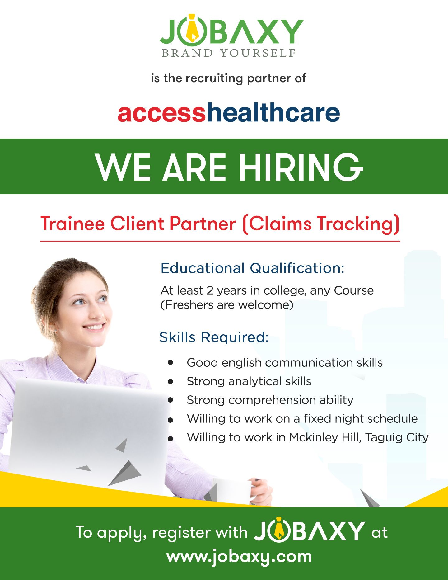 ACCESS HEALTH CARE is NOW hiring for a Trainee Client