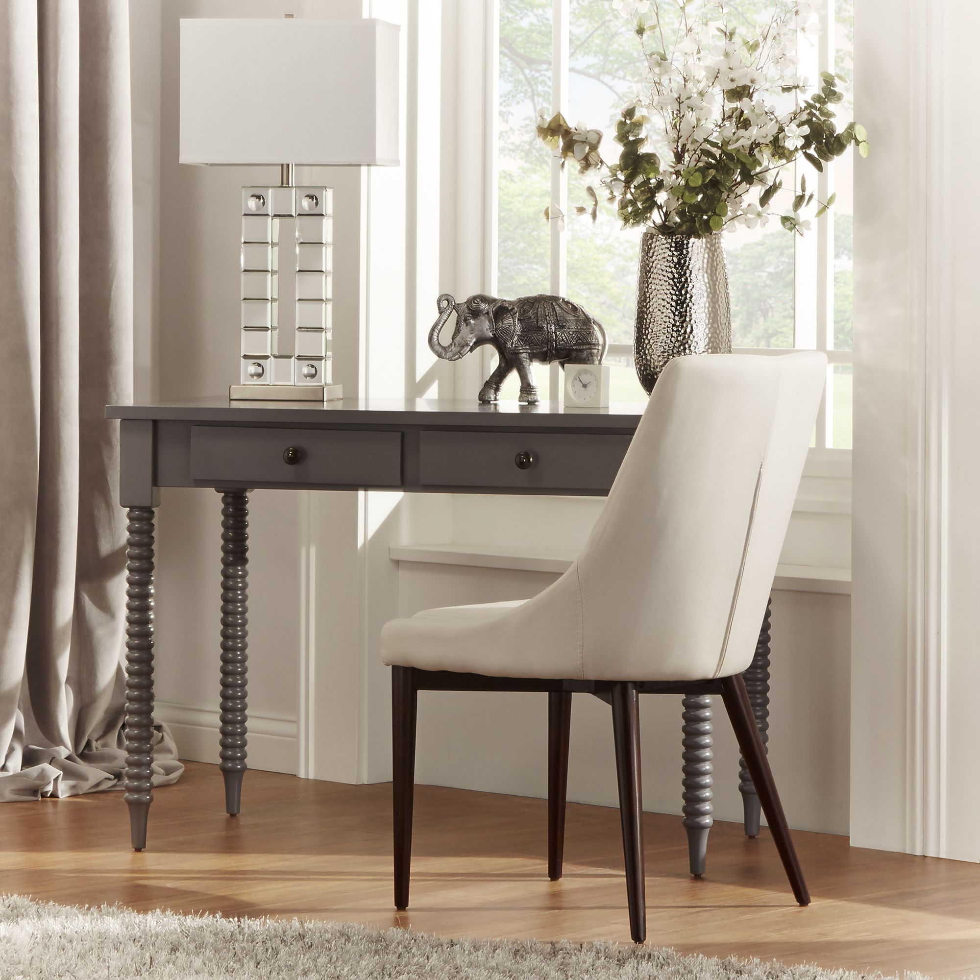 Inspire Q design secret: Neutrals can lead the eye to other views, such as