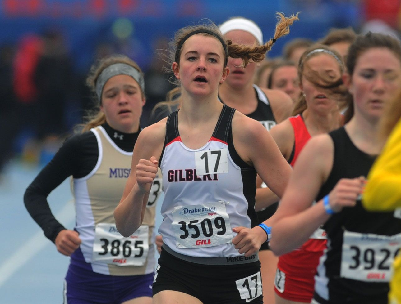 Gilbert's Grace Gibbons placed 12th in the high school