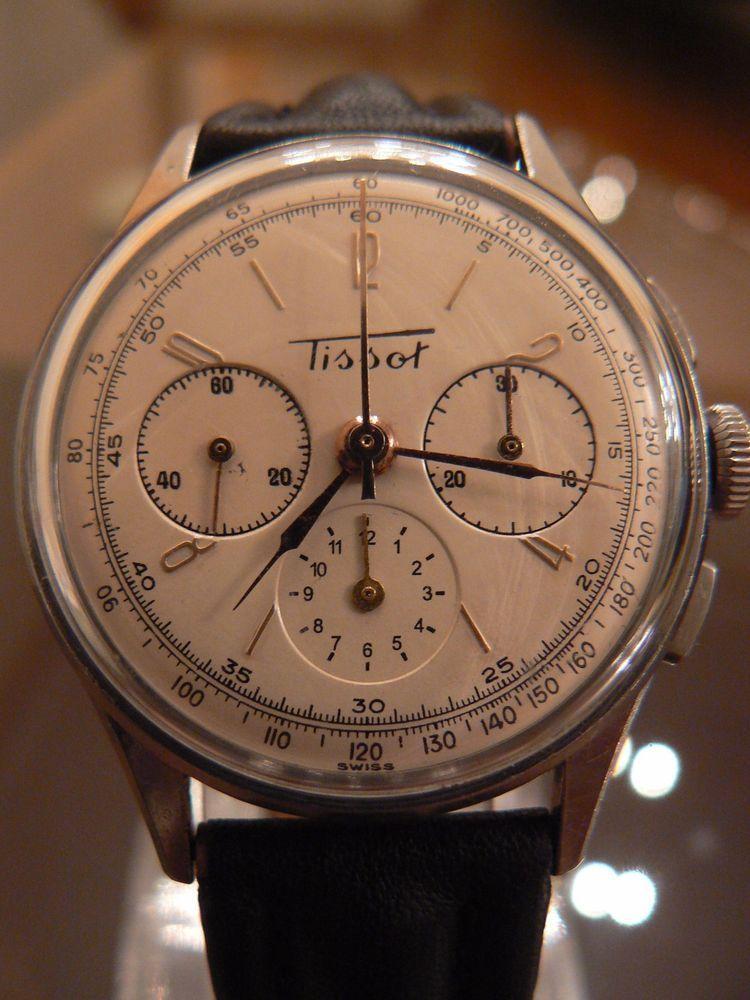 981ad634d Rare collectible 40´s Tissot Men´s Vintage Chronograph Lemania movement! |  eBay