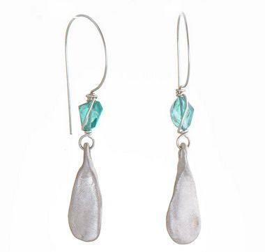 APATITE AND STERLING EARRINGS 48-723