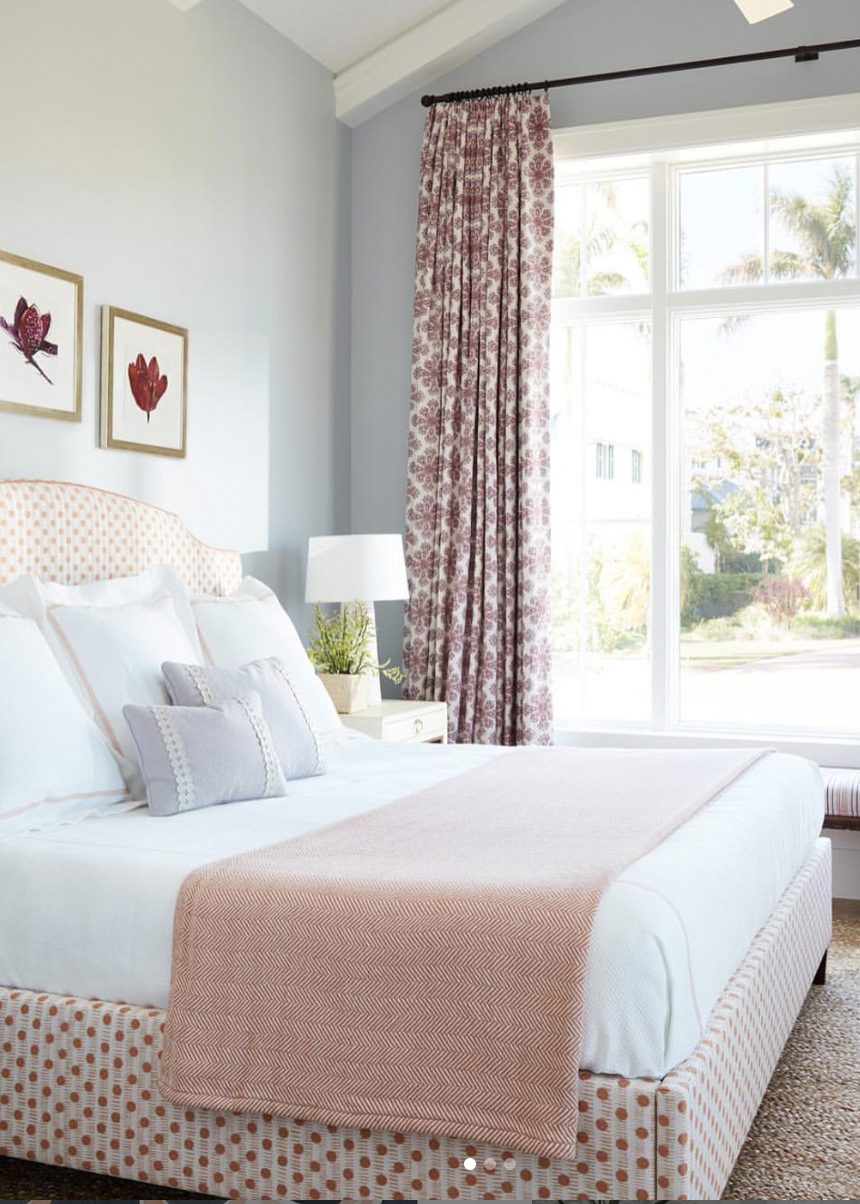 Love how Andrew Howard used our Dot Dash fabric in Blush