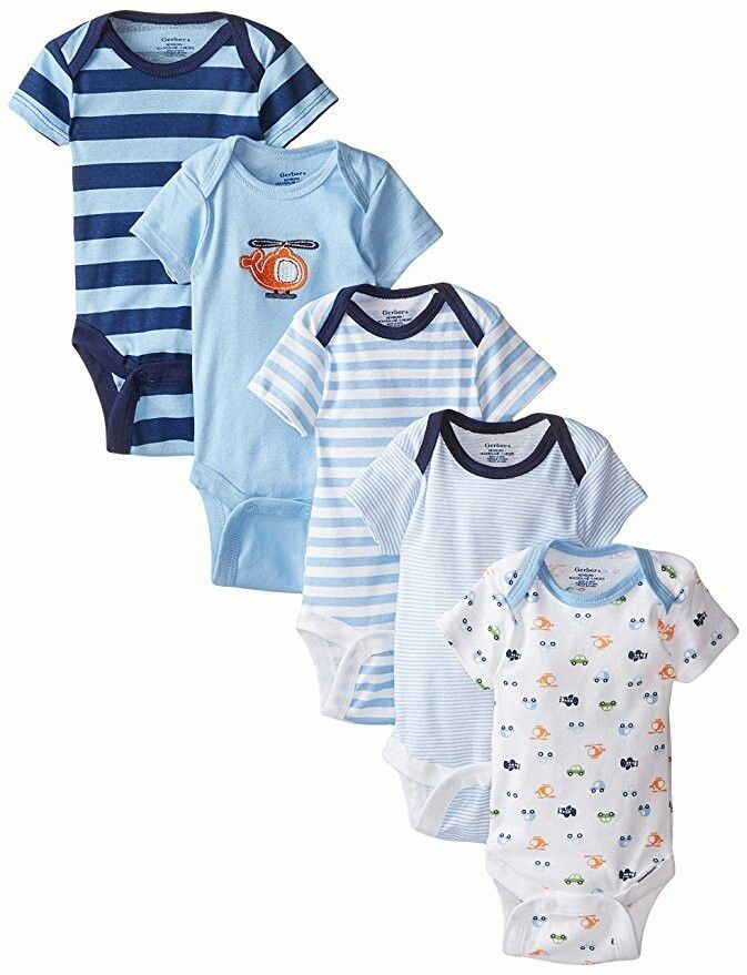 Gerber Baby Boys 39 5 Pack Onesies 6 9 Months Clothing Shoes