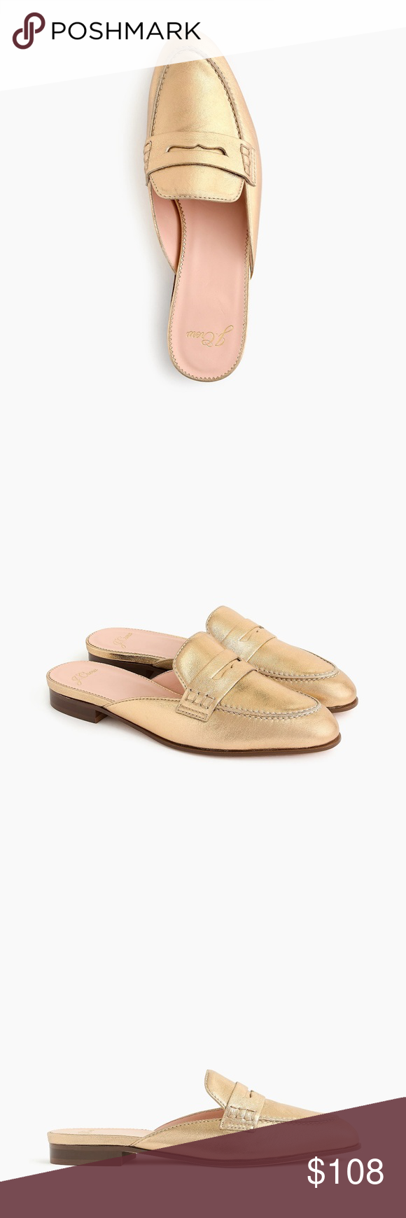 a0ad2ae82ab NIB J. Crew Women s Academy Penny-Loafer Mules J. Crew updated this timeless