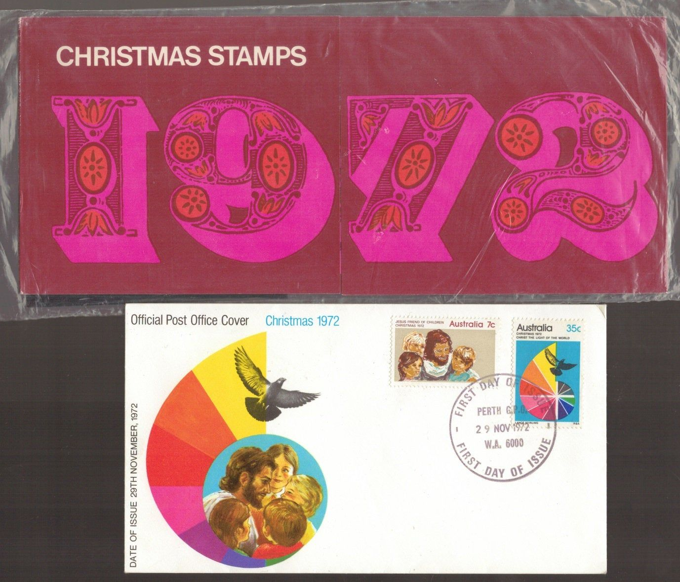 1972 CHRISTMAS Australia Official FDC First Day Cover AND