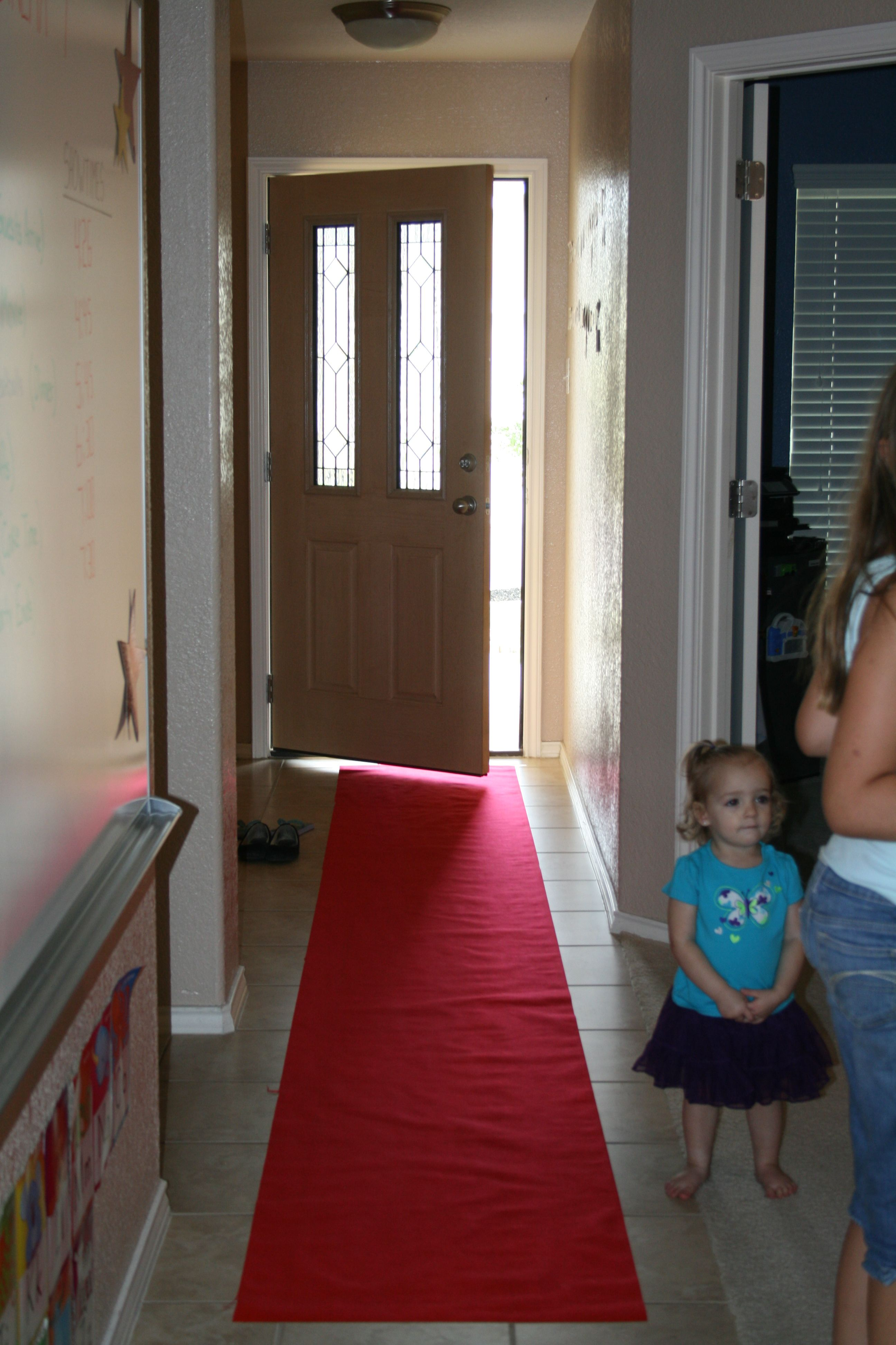 Movie Theater themed birthday party we rolled out the red carpet