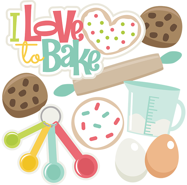 I Love To Bake Clip art, Cookie clipart