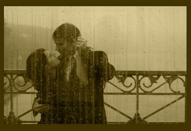 tango sepia en el otoño de Moscú