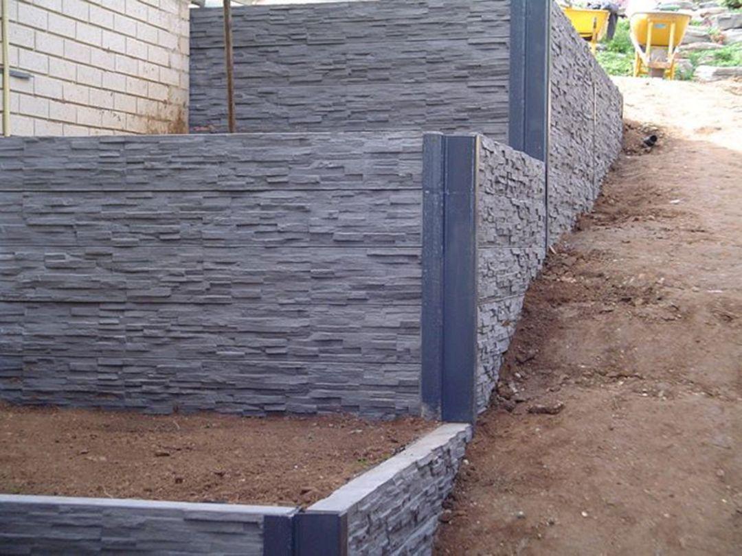 25 Best Concrete Retaining Wall Inspiration To Make Your Backyard Awesome Freshouz Com Concrete Retaining Walls Landscaping Retaining Walls Concrete Sleeper Retaining Walls