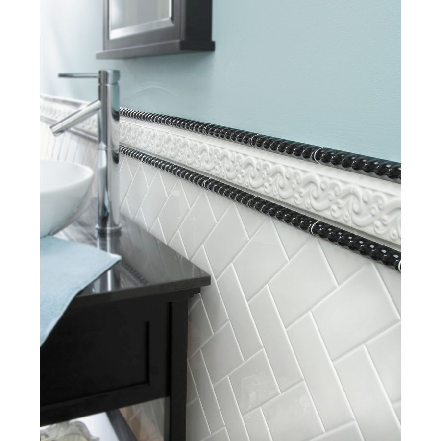 White Subway Tile Glossy Backsplash/wall tile available at lowes ...