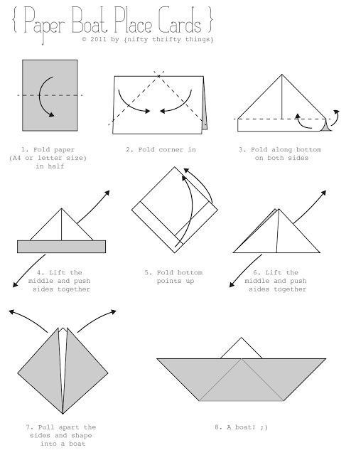 How To Make An Origami Boat With A Paper  Vic Party