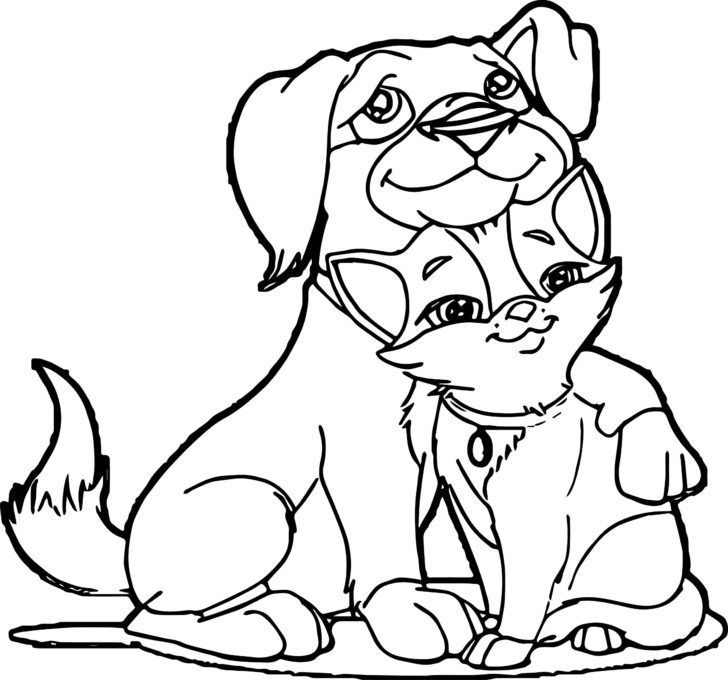 Coloring Pages:Cat And Dog Coloring Pages Dog And Cat ...