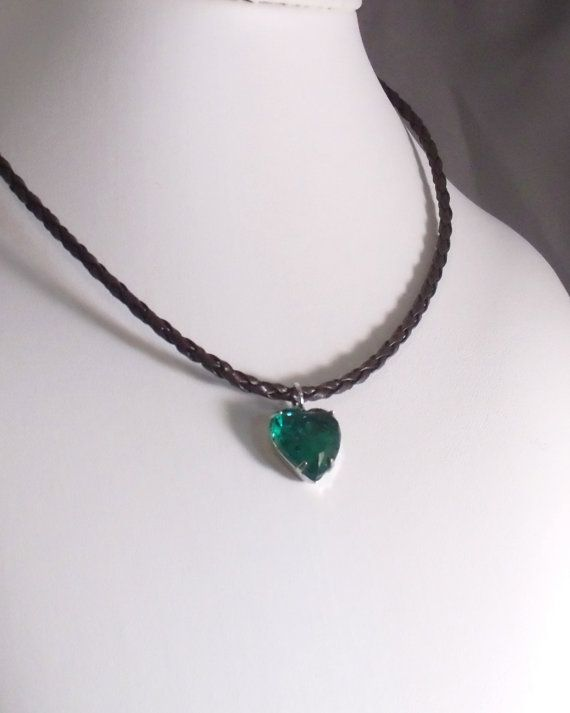 HAPPY MAY! MAY BIRTHSTONE: EMERALD Rock Candy Emerald Green Crystal Heart of Glass by MatriarchbyFP