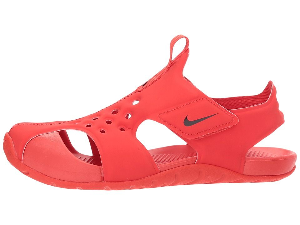 4c3aee2c8e1 Nike Kids Sunray Protect 2 (Little Kid) Boys Shoes Habanero Red Black