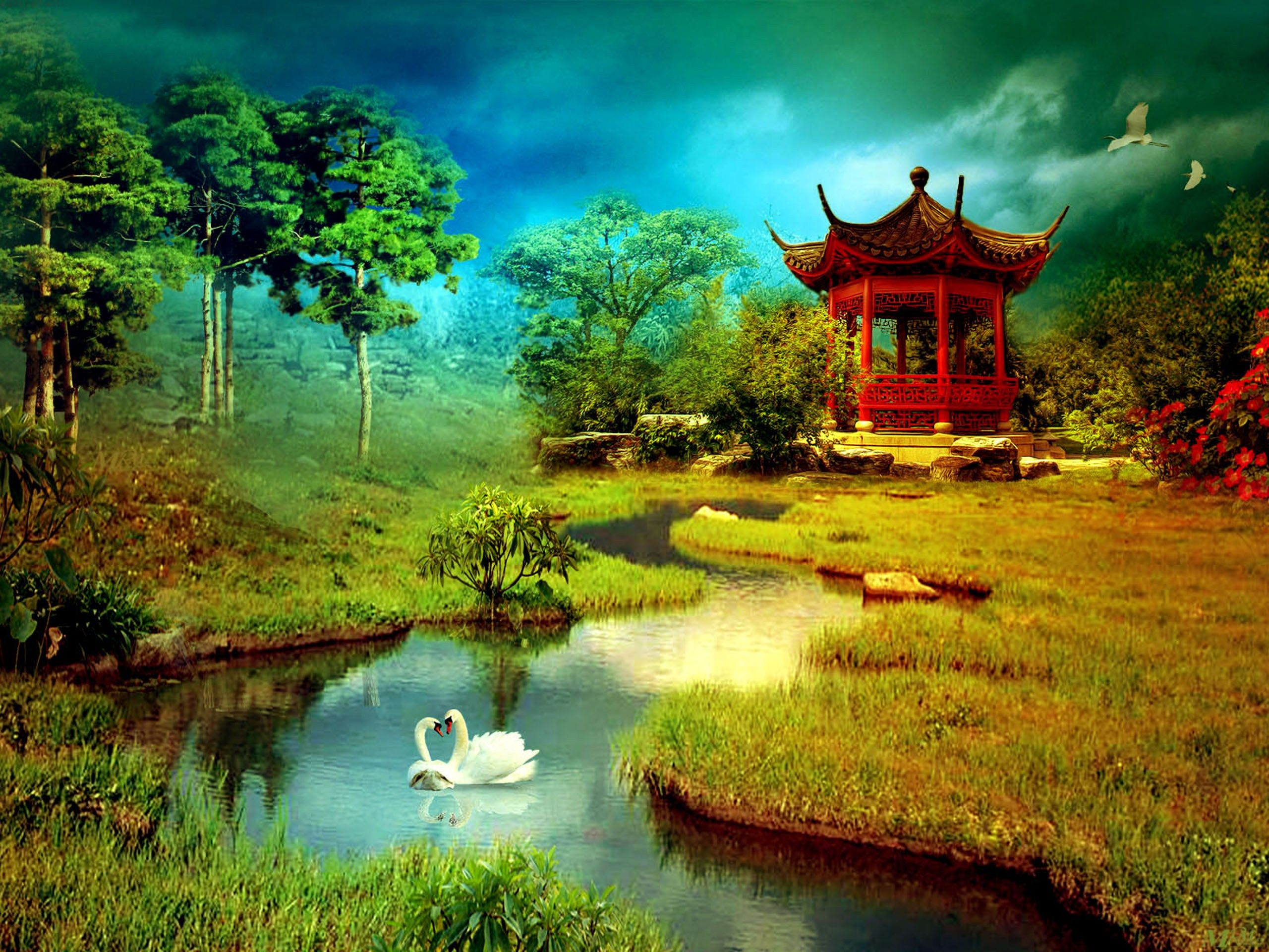 3d Nature Love Background Hd Nature Wallpapers Beautiful Nature