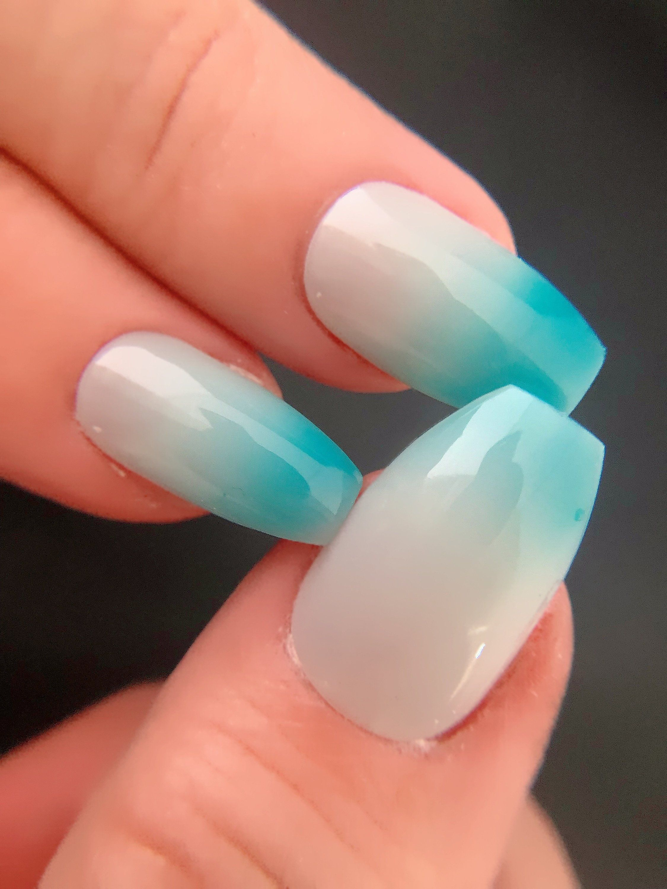 Pacific Sky  Turquoise to Colorless Thermal  Changing Nail | Etsy