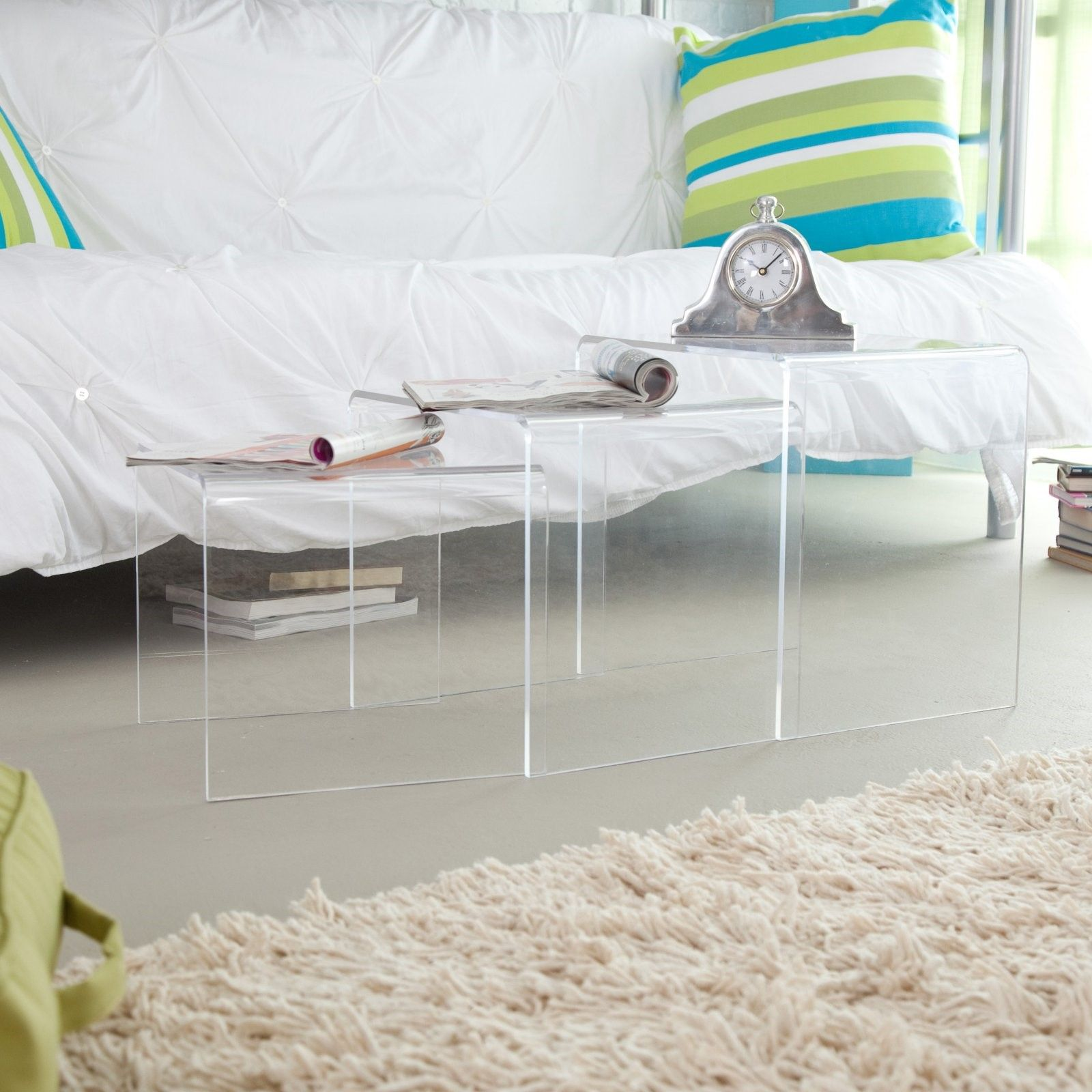 Baxton Studio Transparent Acrylic Nesting Tables