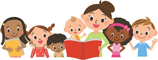 Image result for animated children and parents reading
