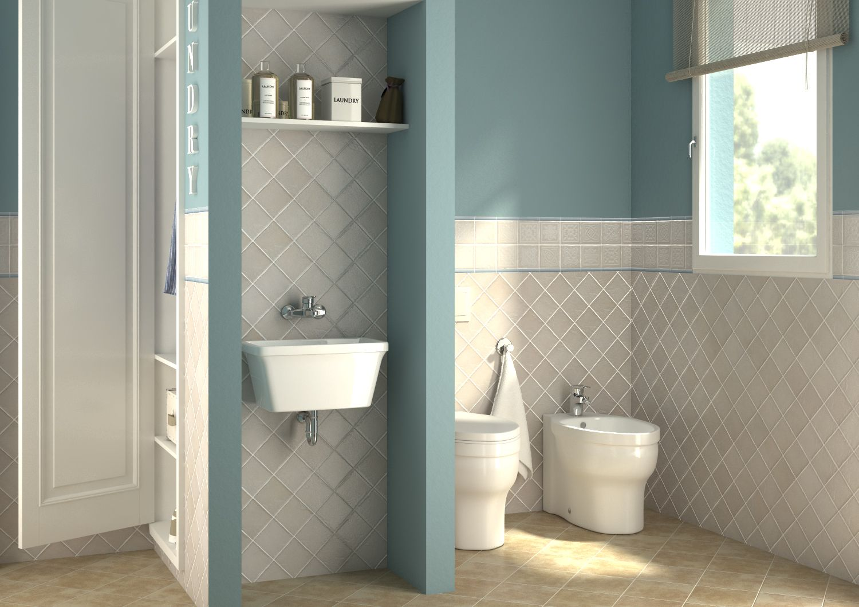 Bagno lavanderia con guardaroba progetta il tuo bagno for Mobili lavanderia leroy merlin