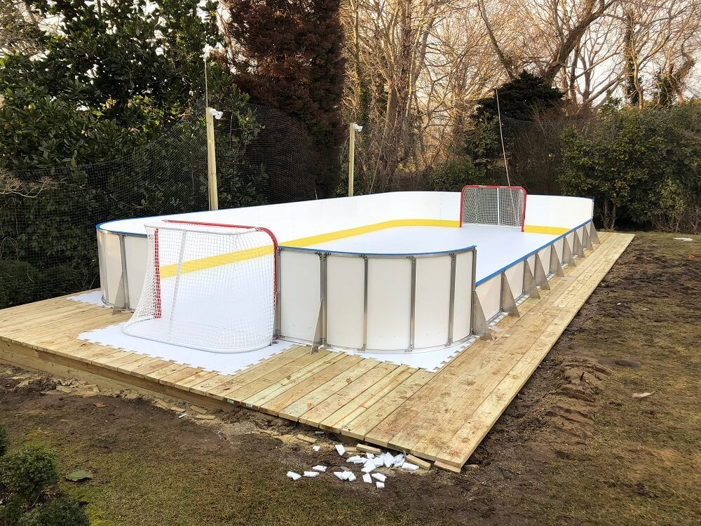 20 X 40 Synthetic Ice Rink In 2021 Backyard Ice Rink Backyard Rink Synthetic Ice