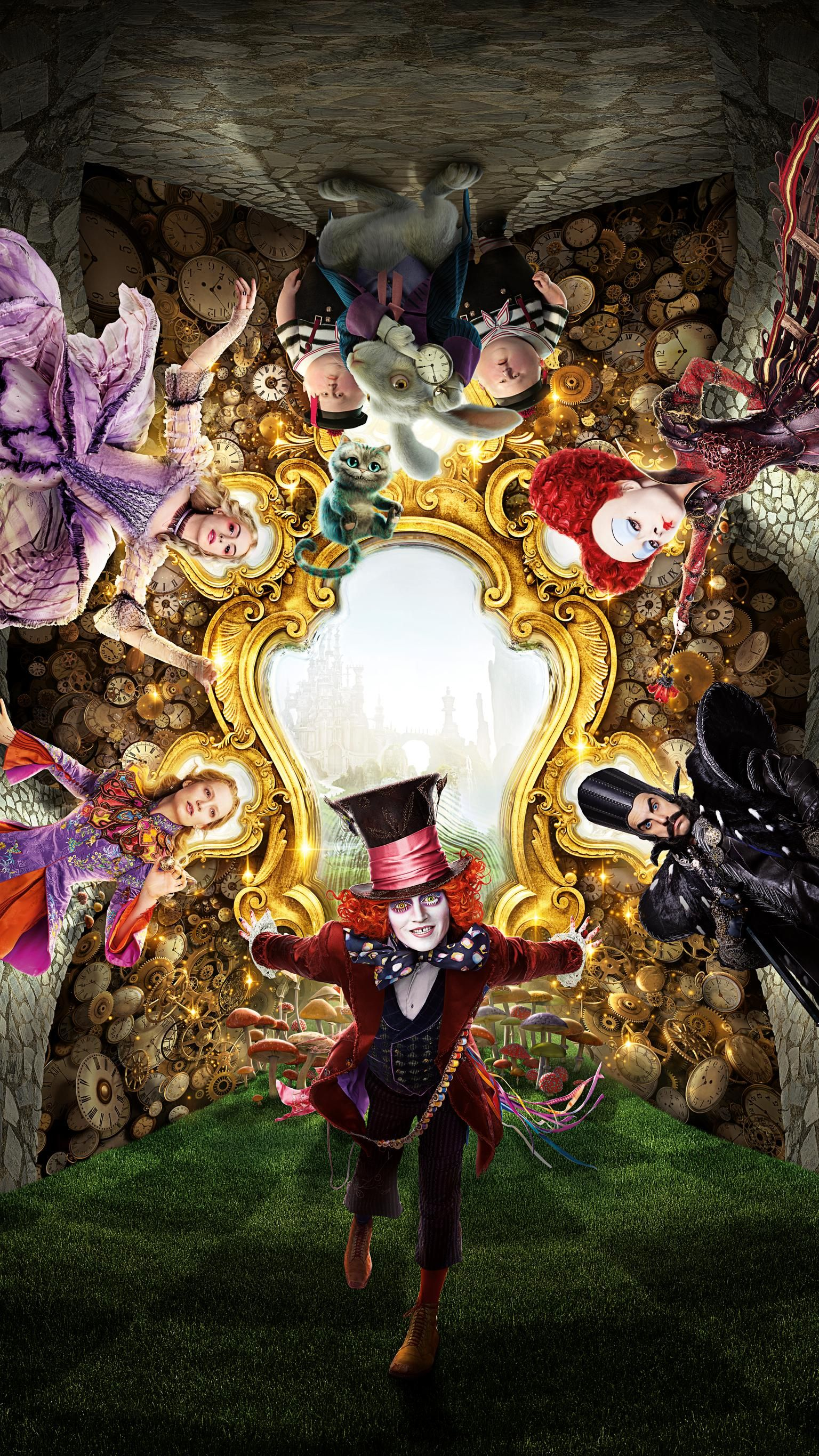 Alice Through The Looking Glass 2016 Phone Wallpaper En