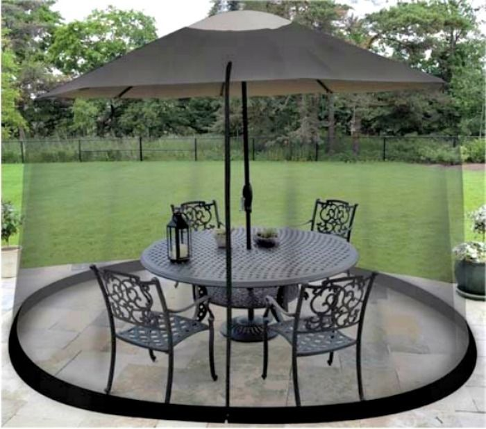 Garden Umbrella Outdoor Large Patio Table Screen Mosquito Insect Net Protection Outdoor Umbrella Table Outdoor Patio Table Patio Umbrellas