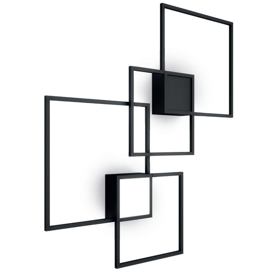 contemporary wall light square pmma aluminum venn by. Black Bedroom Furniture Sets. Home Design Ideas