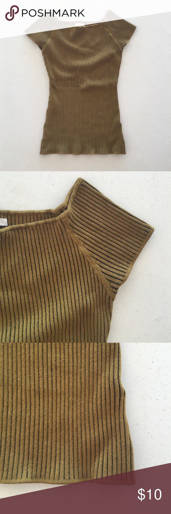 H&M top Mustard colored top. Details in pictures. No trades H&M Tops