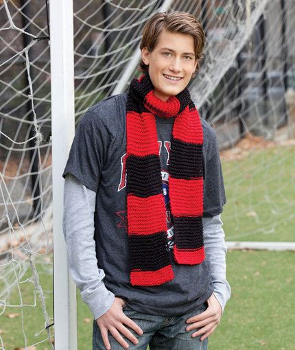 Hooray Team Scarf Free Knitting Pattern From Red Heart Yarns