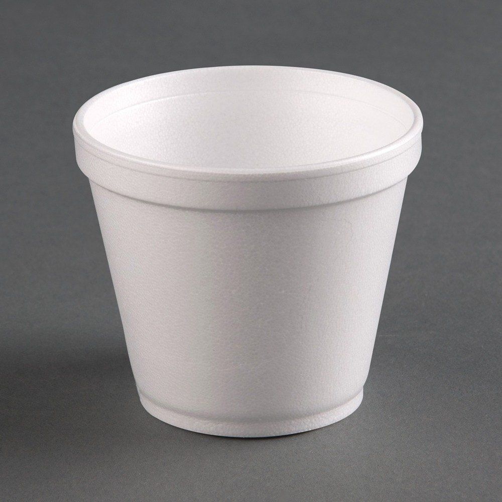 Dart 6sj12 6 Oz White Foam Food Container 50 Pack Food Containers Food Bowl Food