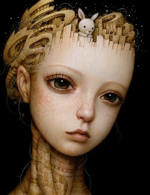 Amazing painting by Naoto Hattori, 'UNTAMED THOUGHTS'