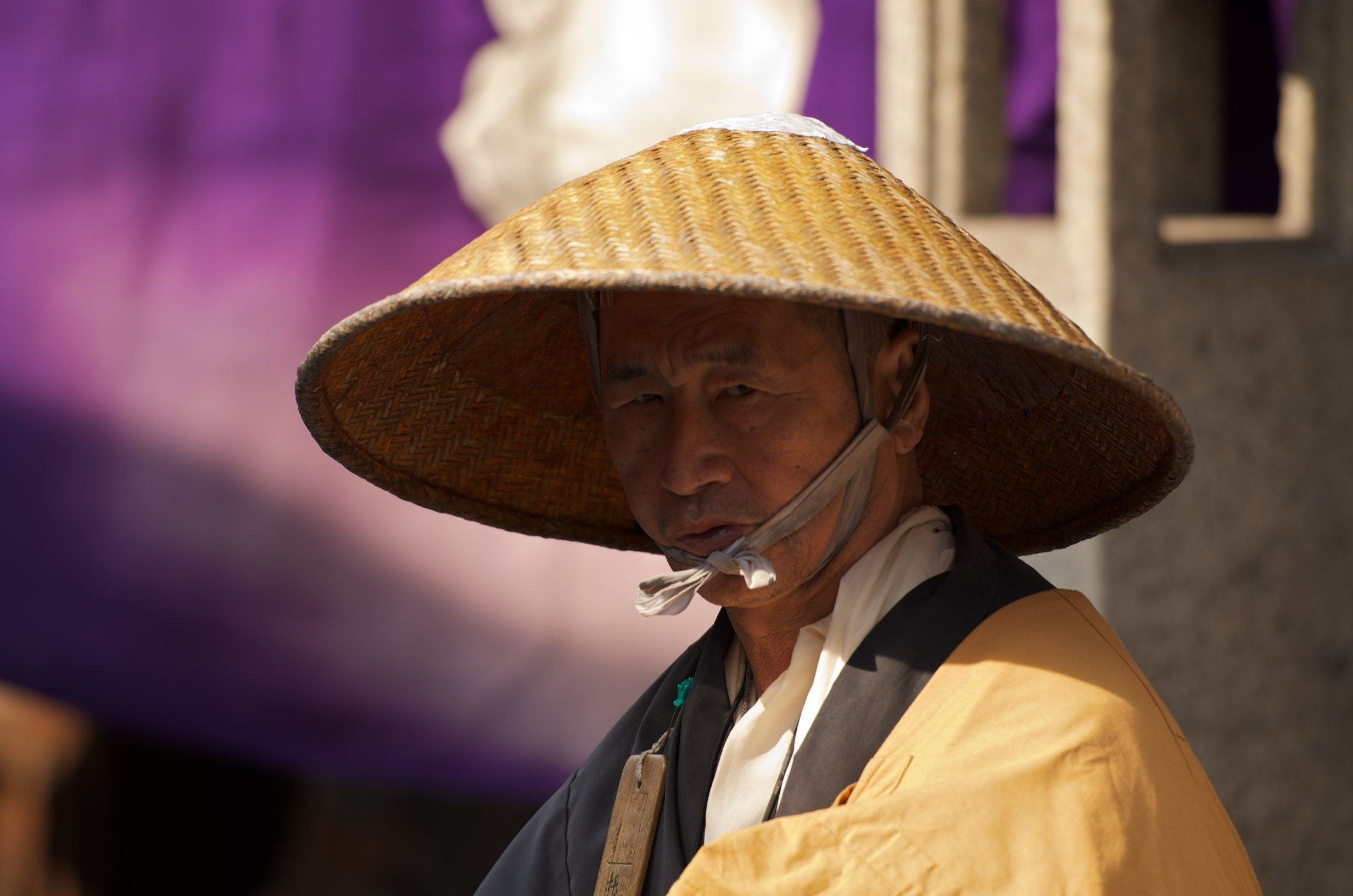 Japanese Man In Traditional Clothing And Hat Hats Japanese Men Traditional Outfits