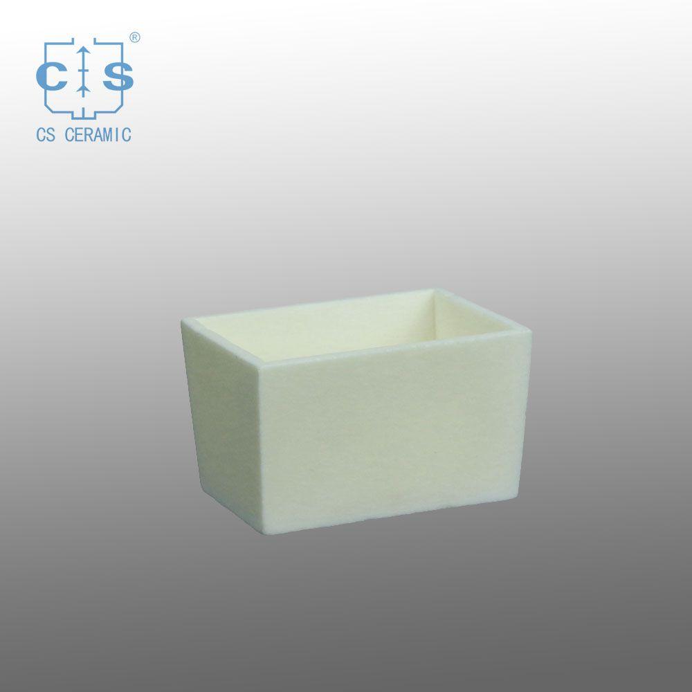 High Quality Crucible Customized By Customers China Alumina Ceramic Rectangular Crucible Ceramic Tray Ceramics Melting Glass
