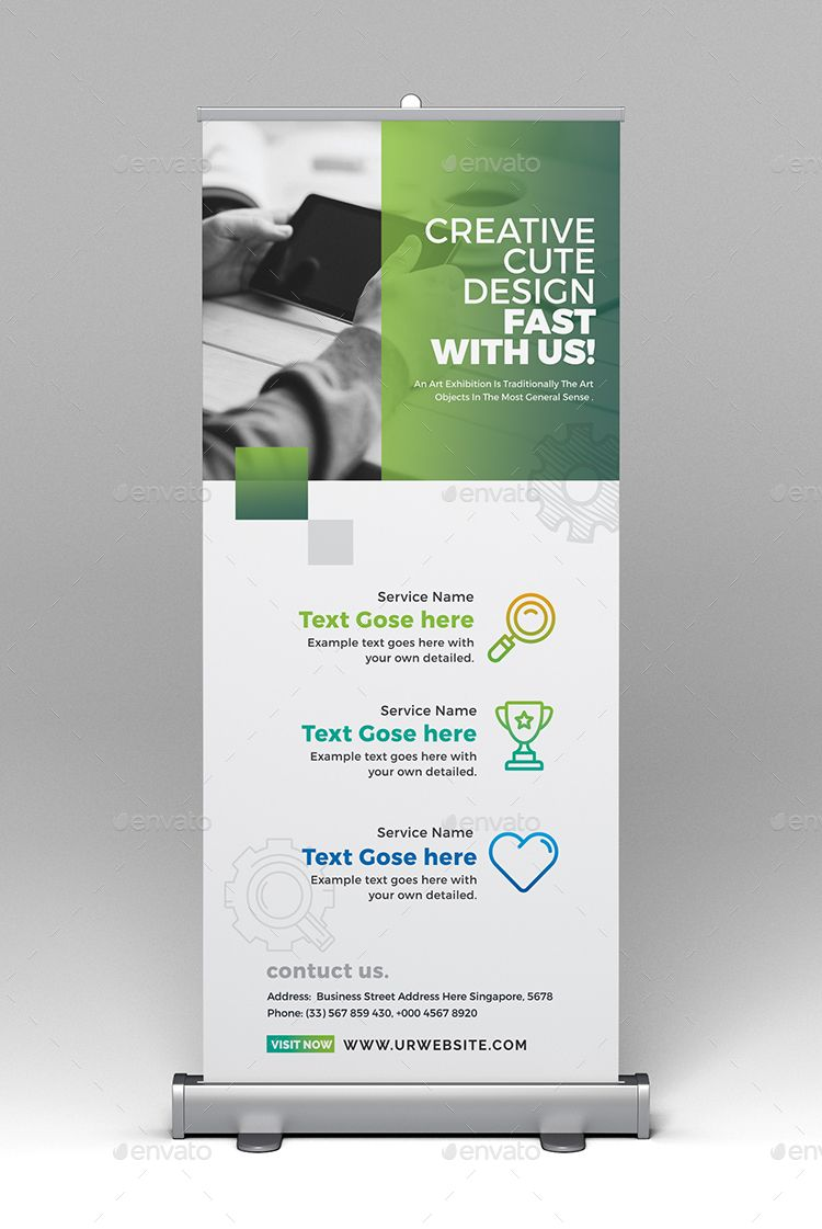 Roll Up Banner Creative Design Standing