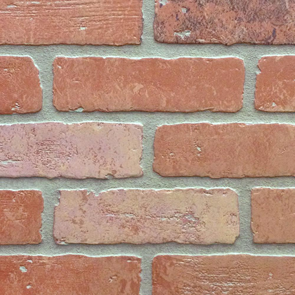 1 4 In X 48 In X 96 In Hdf Kingston Brick Panel Kingston The Home Depot Brick Wall Paneling Brick Paneling Faux Brick
