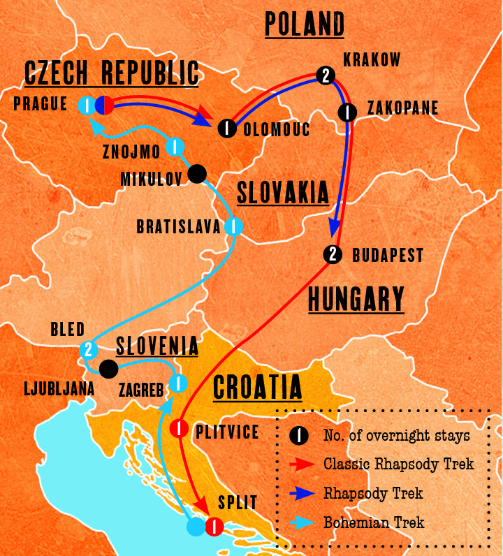 Rhapsody Trek Eastern Europe Tours Eastern Europe Europe Tours Europe