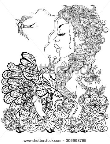 forest fairy coloring pages - Fairy Coloring