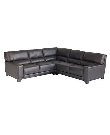Marvelous Luke Leather Sectional Sofa 3 Piece 2 Loveseats And Corner Cjindustries Chair Design For Home Cjindustriesco
