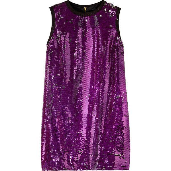 Dolce & Gabbana Sequined mini dress (13.180.115 IDR) ❤ liked on ...